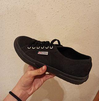 Zapatillas Superga negras talla 39