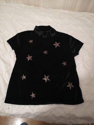 camiseta terciopelo niña fiesta