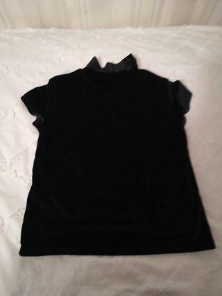camiseta zara fiesta, talla 11/12, queda ideal