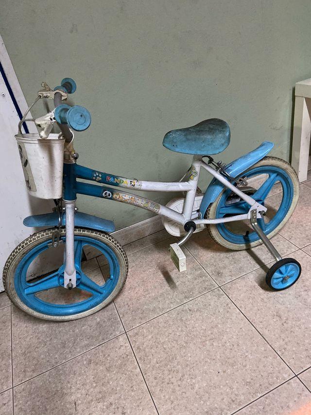 Bicicleta con rodines