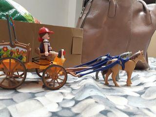 Carreta con caballos de Playmobil