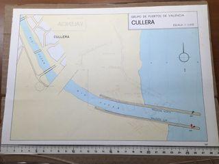Mapa puerto de Valencia y Cullera