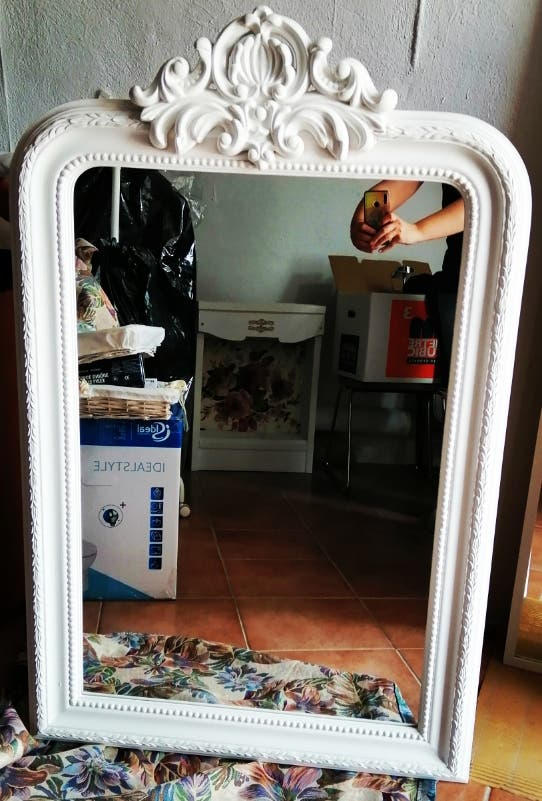 Espejo blanco de la Maison du Monde