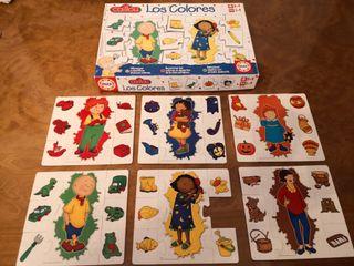 puzzle los colores caillou