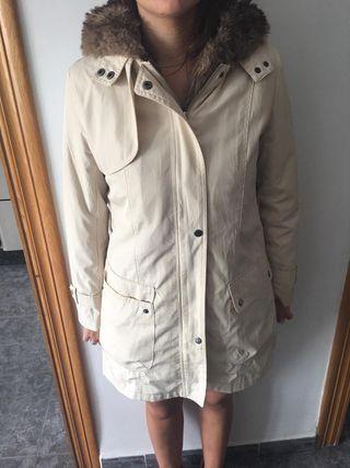 Parka / chaquetón mujer beig talla M