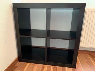KALLAX Estantería, negro-marrón,79x79cm