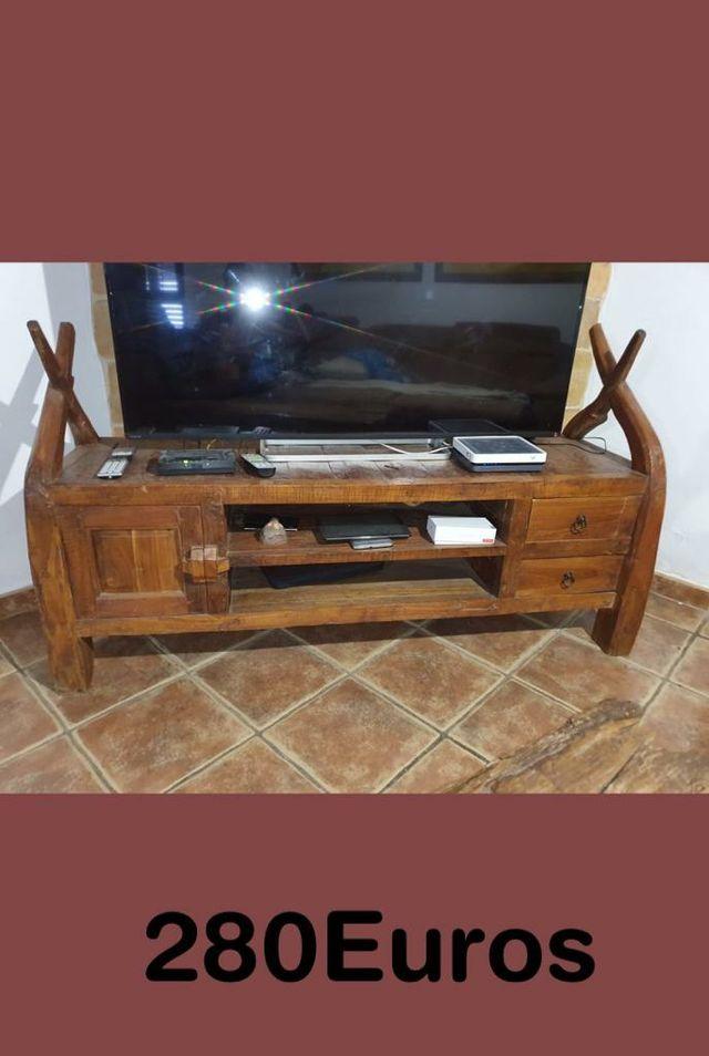 mueble televisor rustico
