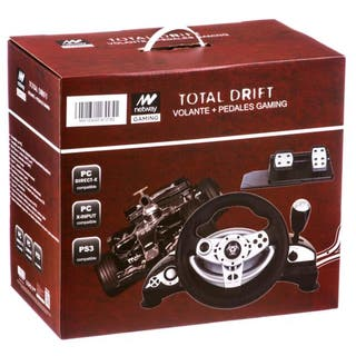 VOLANTE + PEDALES GAMING TOTAL DRIFT PC/PS3