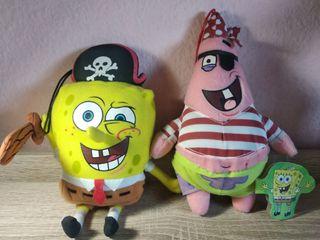 Peluches Bob Esponja y Patricio Piratas