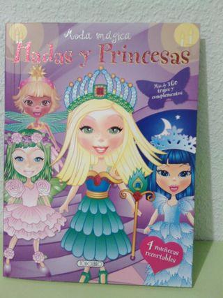 """Libro moda magica""""hadas y princesas""""."""