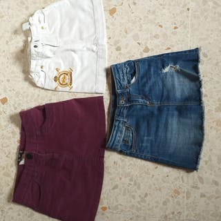 Lote 3 faldas + regalo pantalón azul zara
