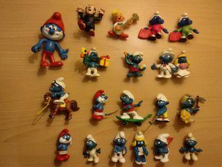 Figuras Pitufos Pitufina peyo schleich PVC años 80