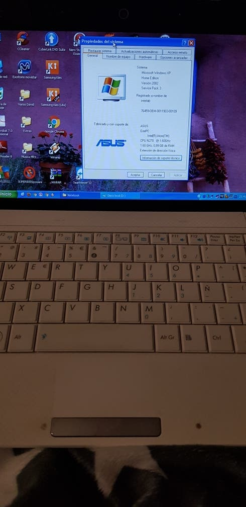 Notebook Asus Eee PC 1001 HA