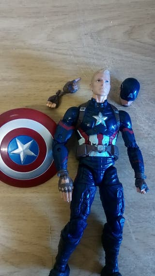 marvel legends capitán América avengers figura