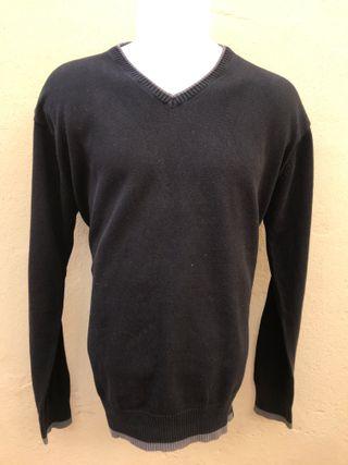Jersey Negro Con Vivos Talla XL
