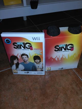 Juego Wii Let's Sing 8 + micrófonos