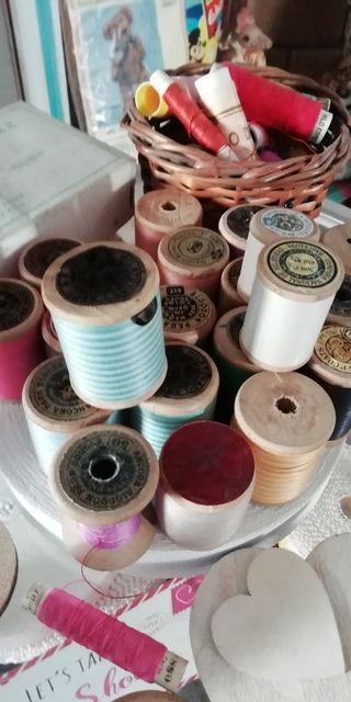 bobinas de hilo bordar,coser antiguas