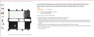 ZJS C21N1347 Batería para ASUS X555 X555L X555LA