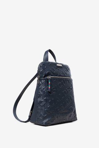 mochila desigual en azul muy bonito y con comparti