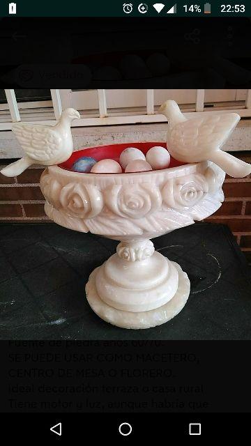 pajaritos marmol para fuente de piedra.