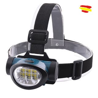 Linterna Frontal de Cabeza tipo MINERO 6W 6 LED Regulable 3 Tipos de Luz