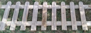 valla reja de madera jardinera