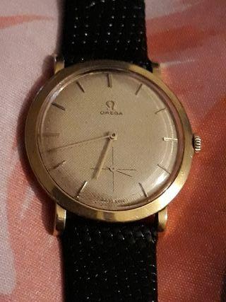 antiguo reloj cuerda OMEGA oro macizo 18kt