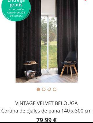 Liquidación tienda, cortinas velvet opacas