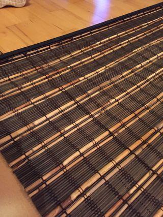 Estor plegable d bambú