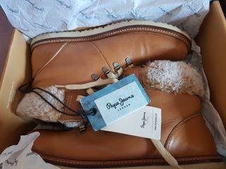 botas pepe jeans london talla 39 piel súper cómoda