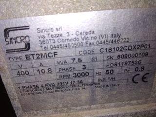 generador de corriente trufasico