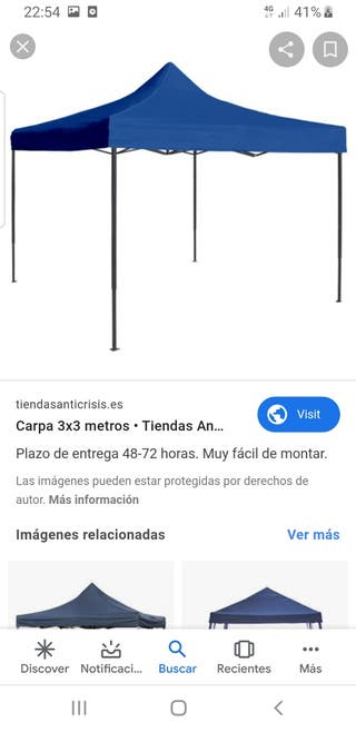 carpa cenador plegable 3x3