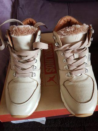 botas pikolinos talla 39 marfil Siena piel