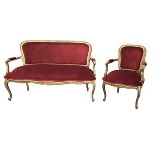 Sofá y silla Antiguo Francés Luis XVI