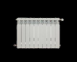 2 radiadores de aluminio baxi-roca de 8 elementos