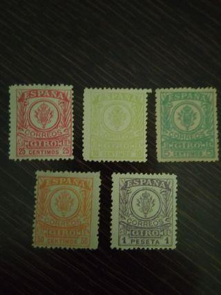 Cambio sellos de España 1er Cent.