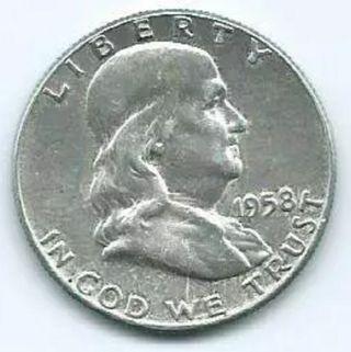 MONEDA 1/2 DÓLAR 1958 FRANKLIN
