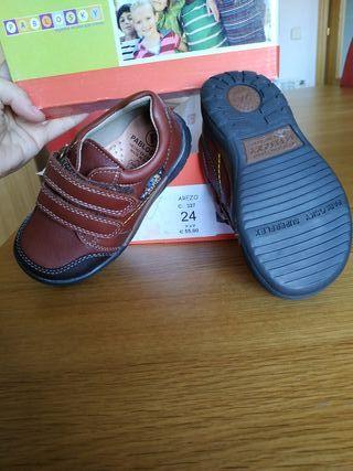 zapatos piel Pabloski niño talla 24