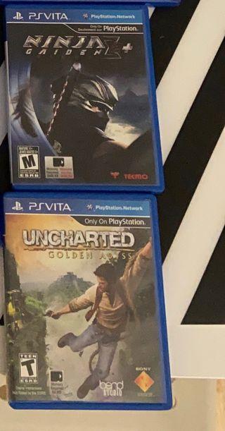 Uncharted y ninja gaiden2 para vita