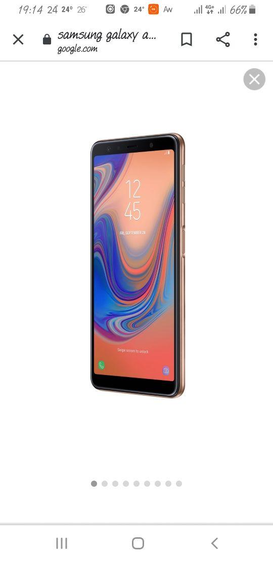 Samsung Galaxy a7 2018 dorado nuevo poco uso