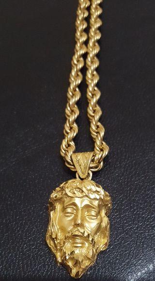 Cordón de oro con cristo