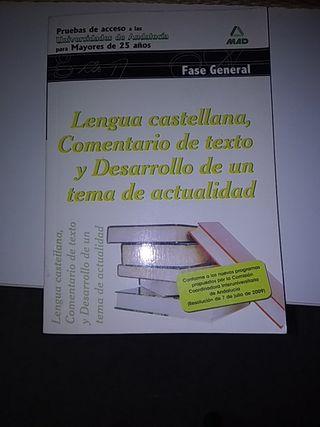 Libro acceso a la universidad Lengua Castellana