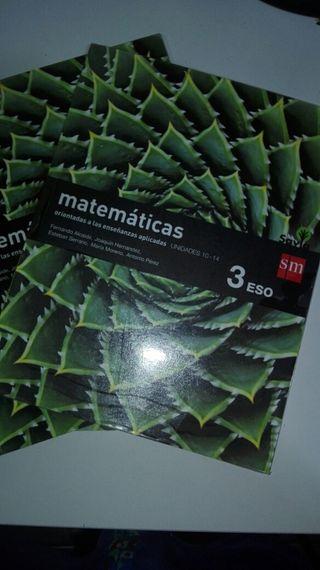 Libro de matemáticas 3 eso