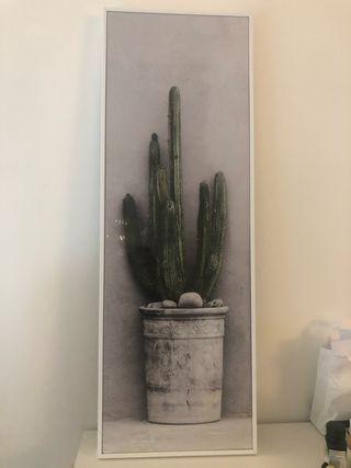 Tableau cactus conforama très bon état