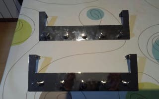 percha aluminio colgante de puerta