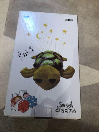 Proyector musical con luz bebes tortuga