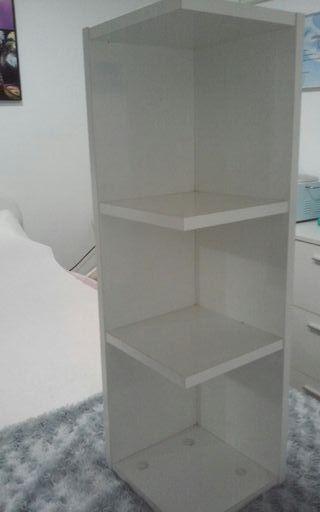estanteria blanca melamina