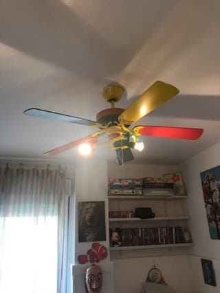 Ventilador lámpara dormitorio infantil