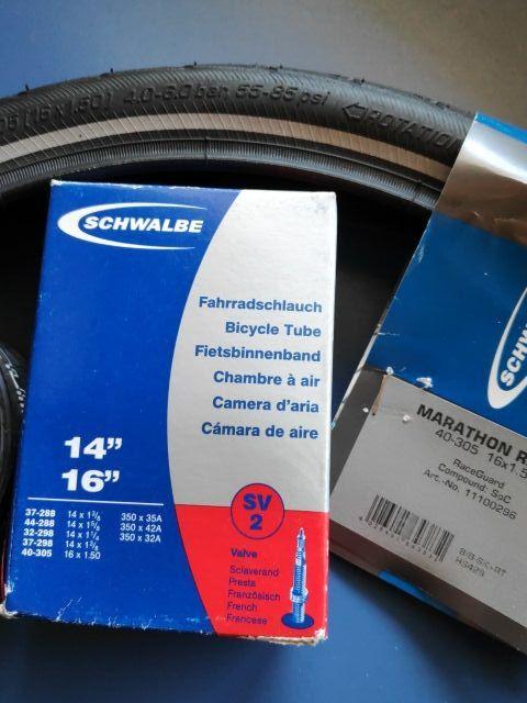 """Camara bici llanta 14""""y 16"""" Schwalbe"""