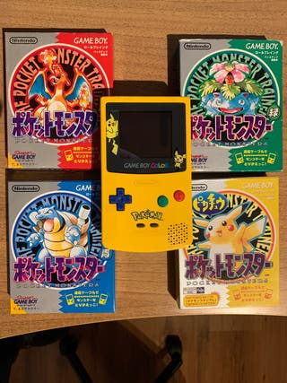 POKEMON ROJO VERDE AZUL AMARILLO + GAMEBOY